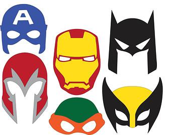 340x270 Super Hero Mask Clip Art Clipart
