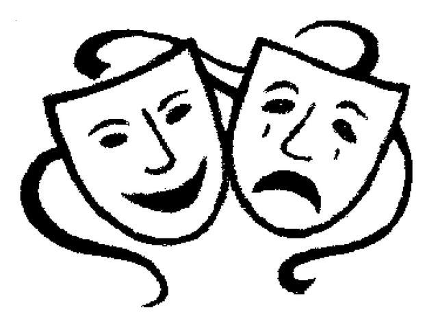 640x480 Theatre Masks Clip Art