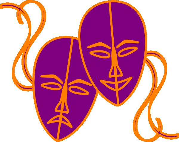 600x476 Theatre Masks Clip Art