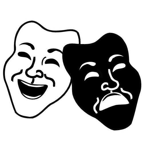 500x500 Top 10 Drama Masks Clipart
