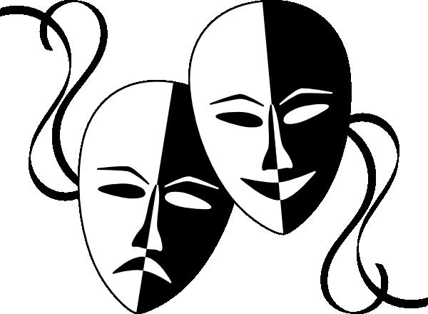 600x440 Wasat Theatre Masks Clip Art Free Vector 4vector