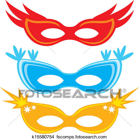 450x453 Clipart Of Vector Carnival Masks K15580754