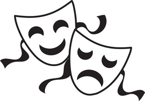 300x208 Drama Mask Clip Art
