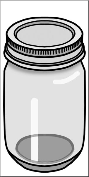 304x604 Clip Art Food Containers Jar Grayscale I Abcteach