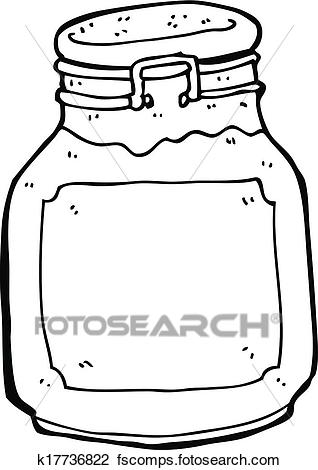 318x470 Clipart Of Cartoon Jam Preserve K17736822