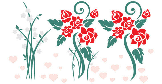 568x294 Floral Free Vector Art Floral Vector Graphics Free