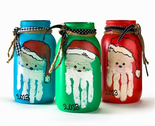 500x406 Parent Gift Santa Mason Jars Deck The Halls