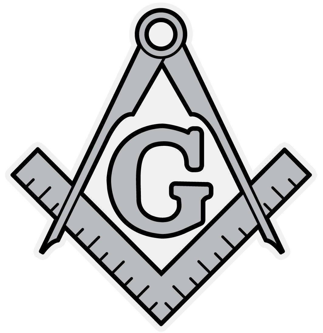 1064x1096 Masonic Square and Compass Small Reflective Decal Sticker eBay