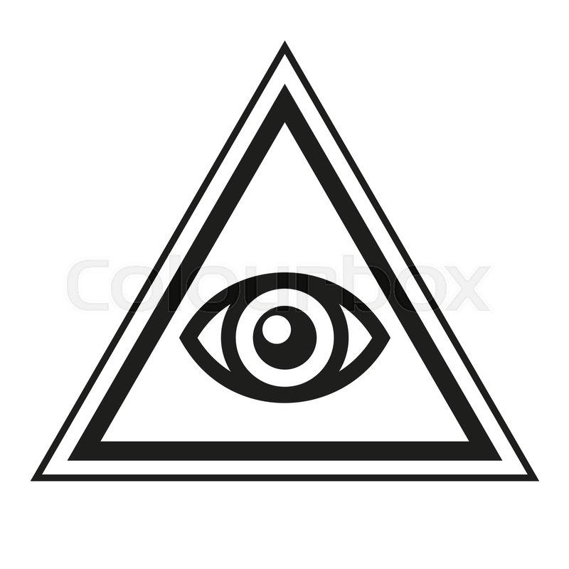 800x800 Masonic Symbol. All Seeing Eye Inside Pyramid Triangle Icon