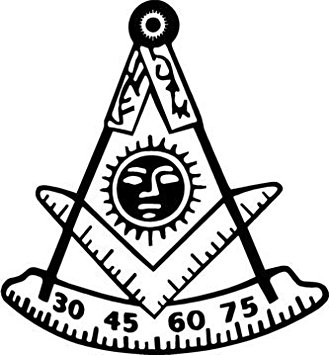329x355 Masonic Exchange Freemason Past Master Decal Decal