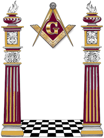 339x450 Columns Clipart Masonic Symbol