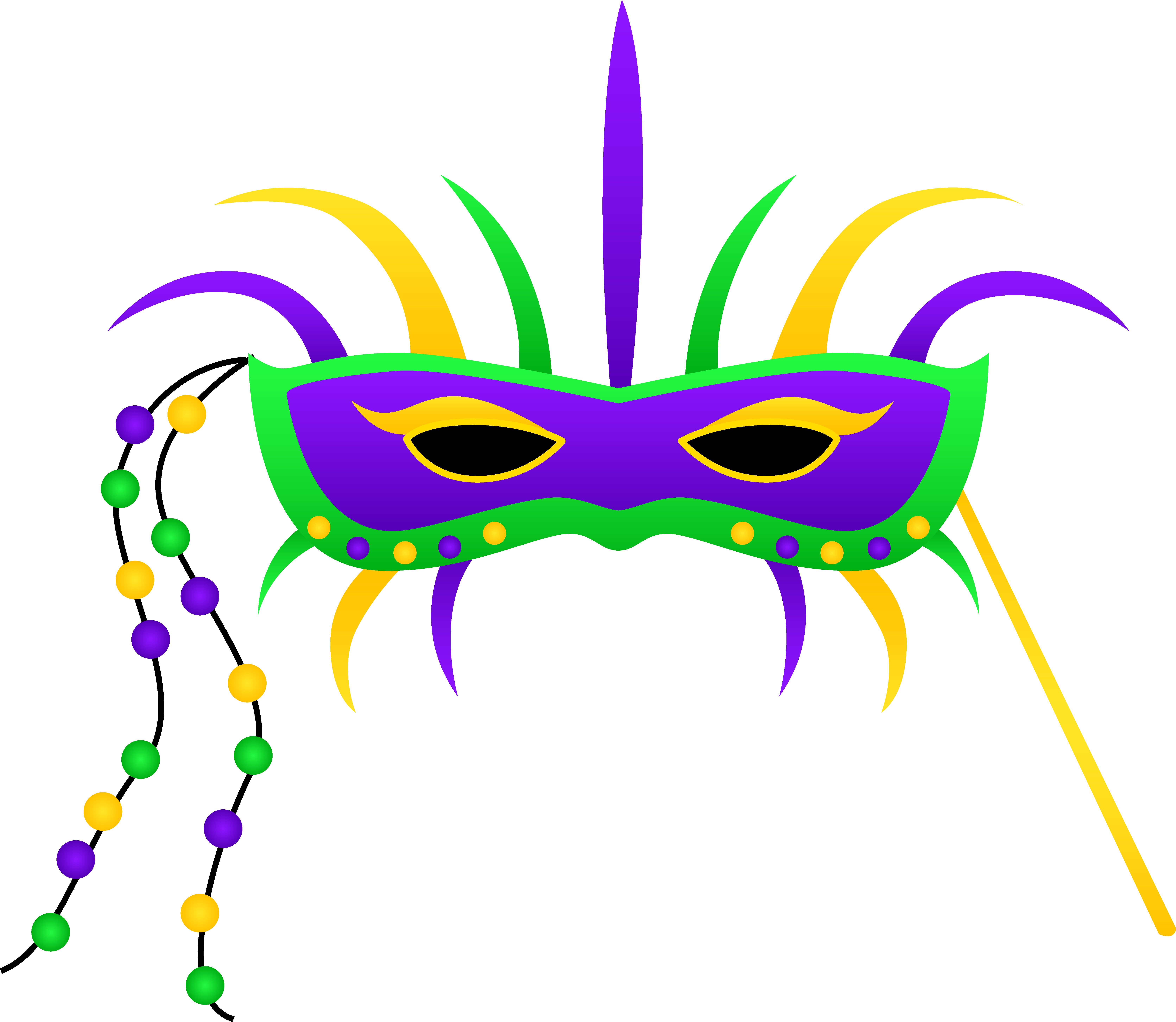 6684x5806 Mardi Gras Clip Art Masks Free Clipart Images
