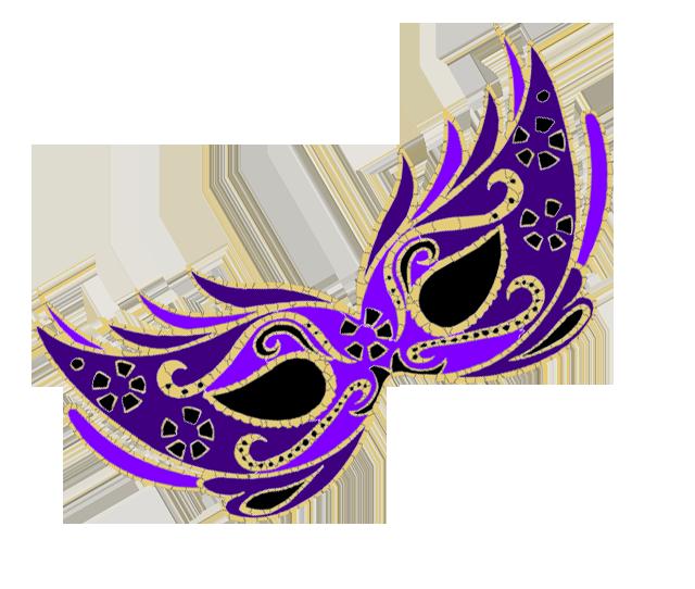 640x542 Masquerade Clipart Purple