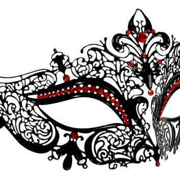 354x354 Masquerade Clipart Red