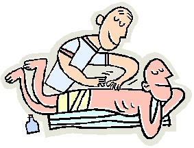 283x216 Sport Massage Clipart
