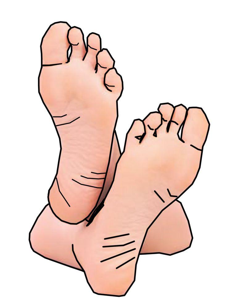 736x972 Barefoot Clipart Foot Massage