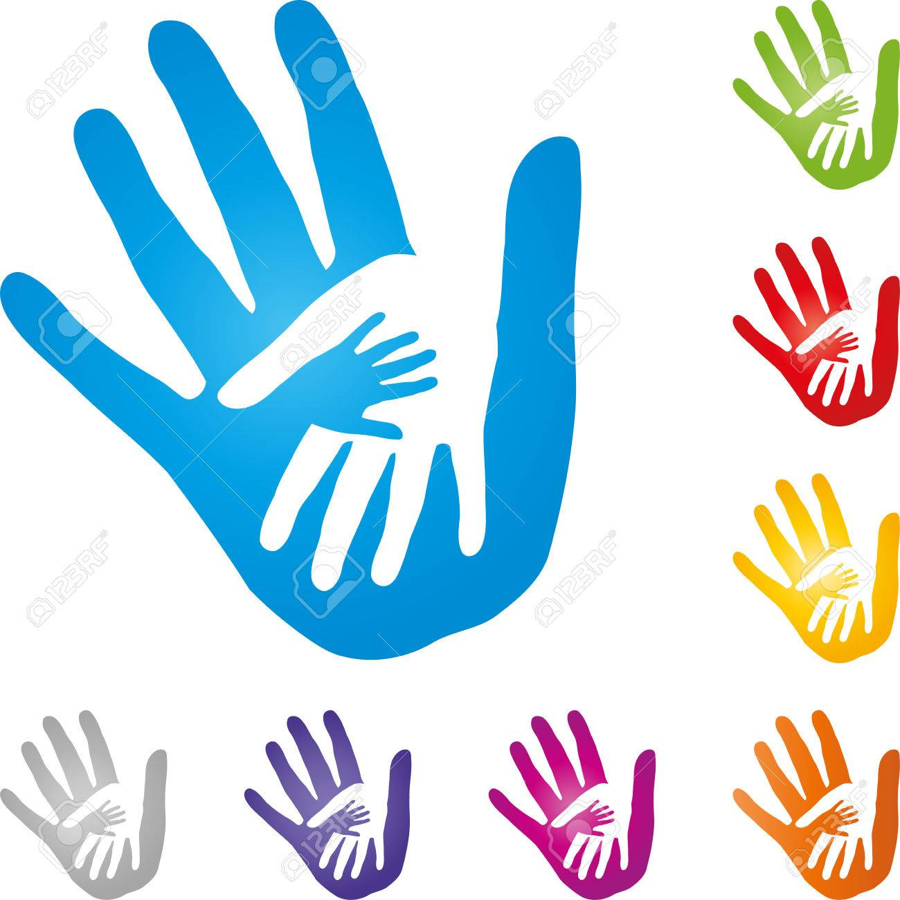 1300x1300 Hands, Physiotherapy, Child Hand, Vector Royalty Free Cliparts