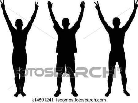 450x335 Hands Up Clipart And Illustration. 44,418 Hands Up Clip Art Vector