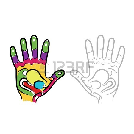 450x450 Business Cards Design With Hand, Massage Reflexology Royalty Free