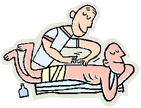 283x216 Massage Therapist Clipart