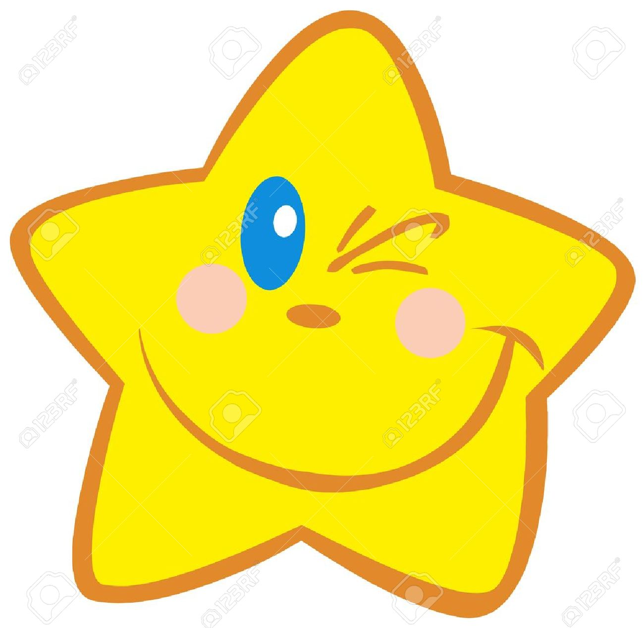 1300x1269 Happy Little Star Winking Royalty Free Cliparts, Vectors,