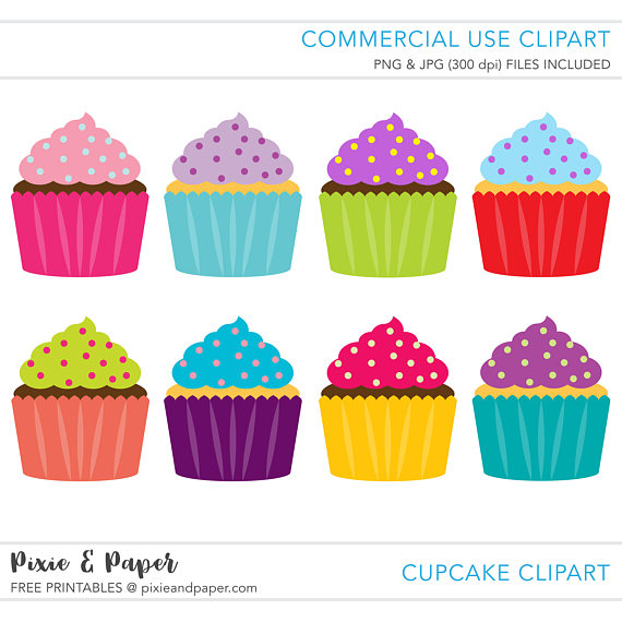 570x570 Commercial Use Clipart, Commercial Use Clip Art, Cupcake Clipart