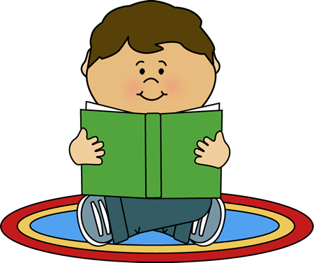 450x377 Kid Reading On A Rug Clip Art