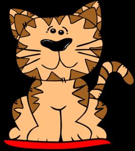 267x299 Cat On Mat Clip Art