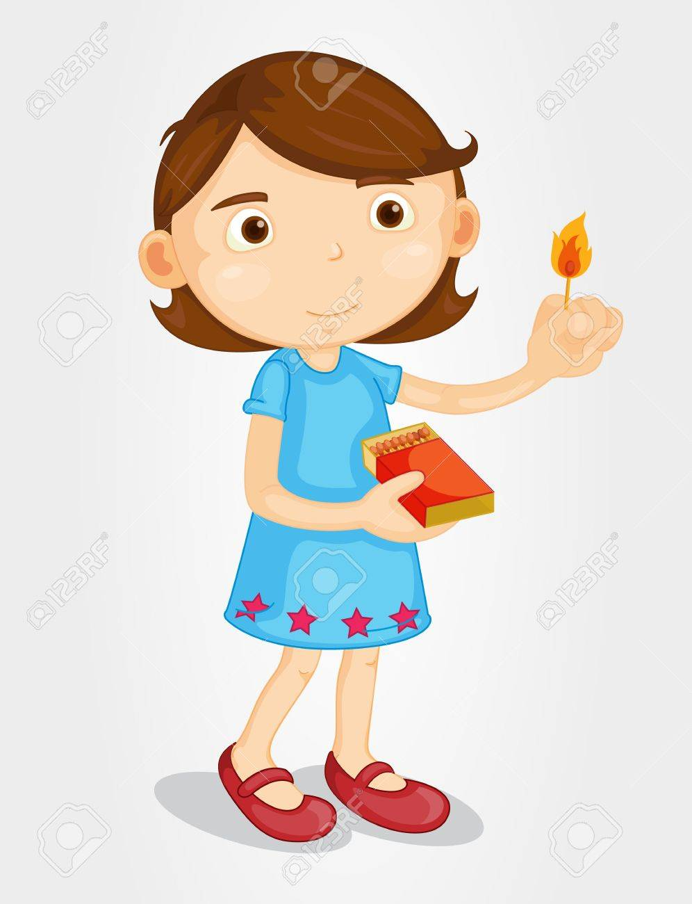 996x1300 Illustration Of A Girl With Matches Royalty Free Cliparts, Vectors