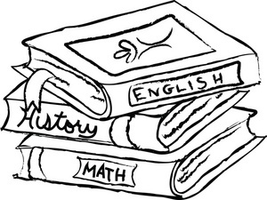 300x225 Math Book Clipart Black And White Letters Example
