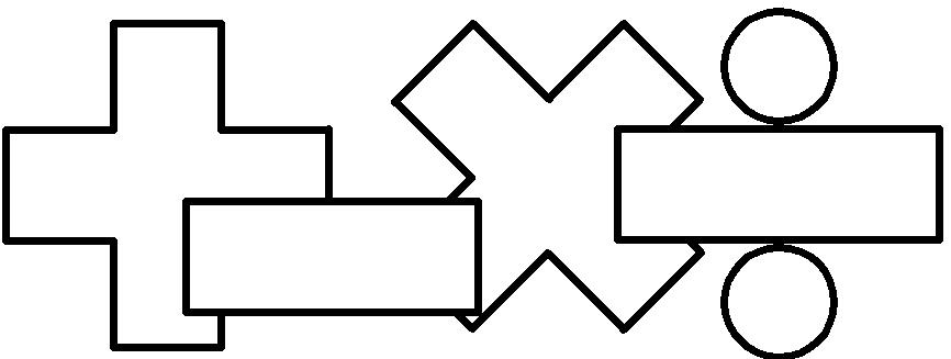 866x327 Math Signs Clipart Black And White