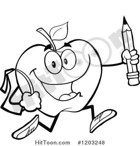 450x470 Student Black And White In Line Clipart