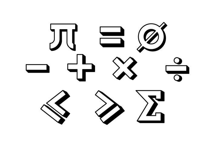 700x490 Free Math Symbol Vector