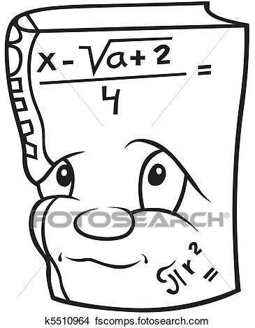 365x470 Clipart Of Mathematics Book K5510964