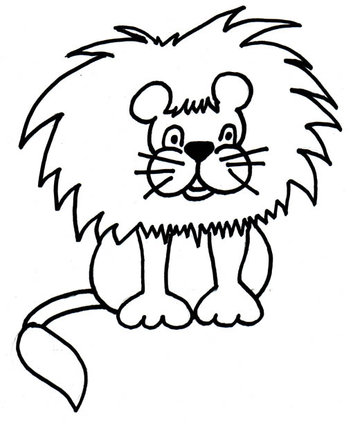 510x618 Lion Clip Art Black And White Free Clipart Images 8