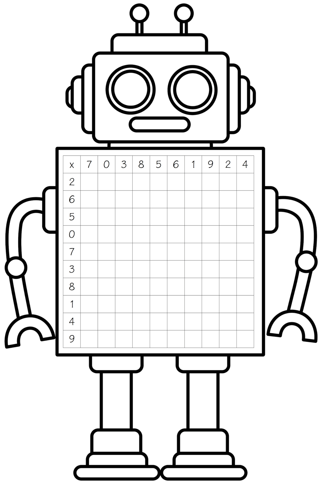 1068x1600 Robot Clipart Black And White
