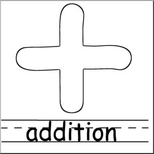 304x304 Clip Art Math Symbols Set 2 Addition Bampw Labeled I
