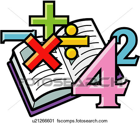 450x397 Clipart Of Calculation, Arithmetic, Math, Numeral, Book