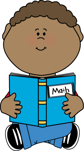 287x512 Boy Reading A Math Book Clip Art