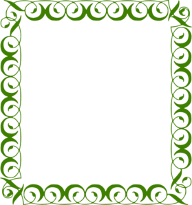 279x298 Green Border Clip Art