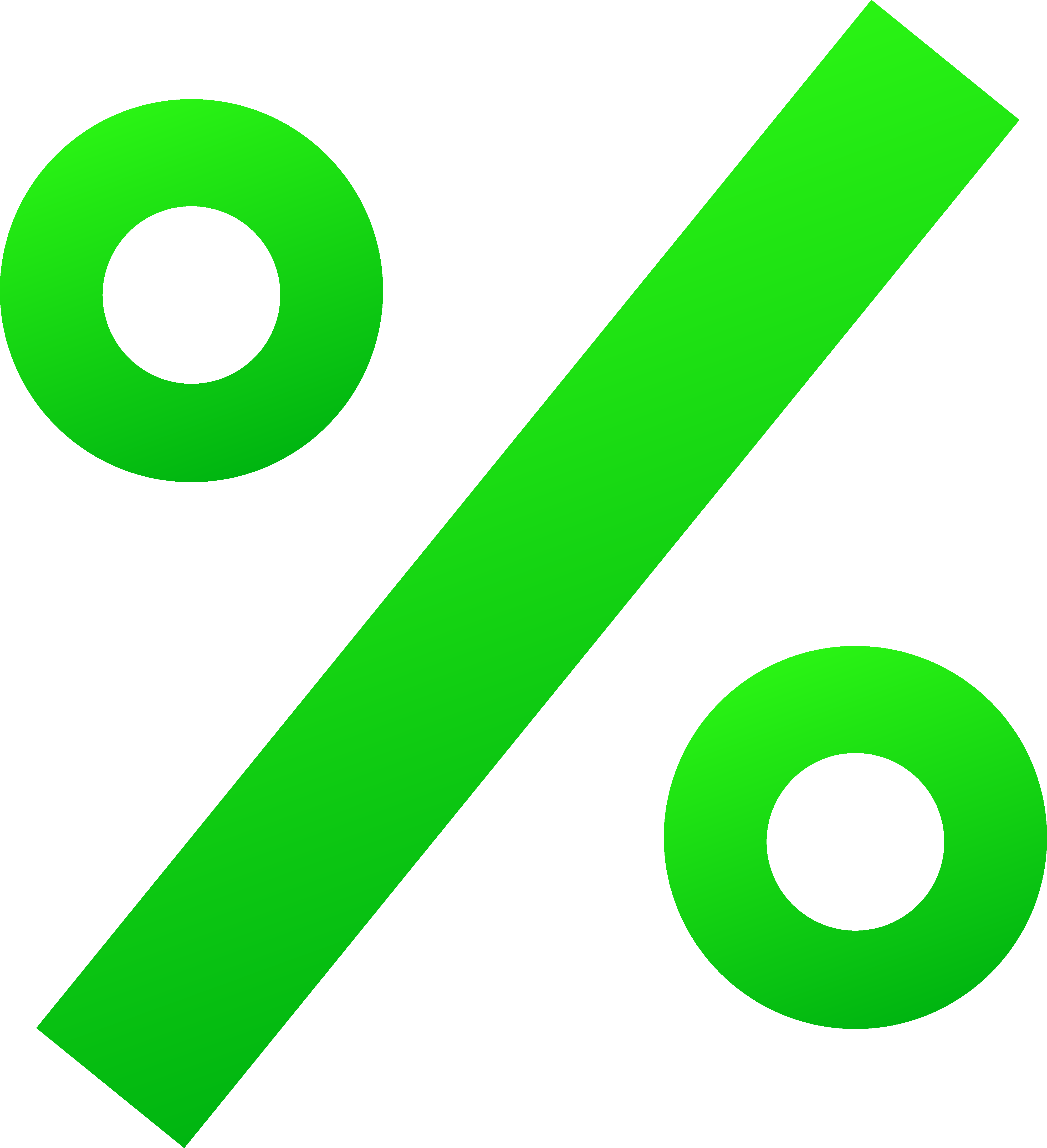 3983x4369 Green Percentage Sign