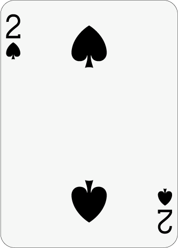 359x500 Math Clip Art Playing Card The 2 Of Spades