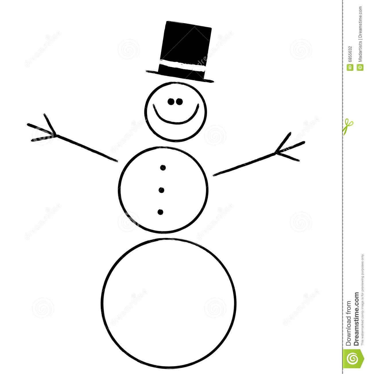 1282x1300 Snowman Clipart Black And White