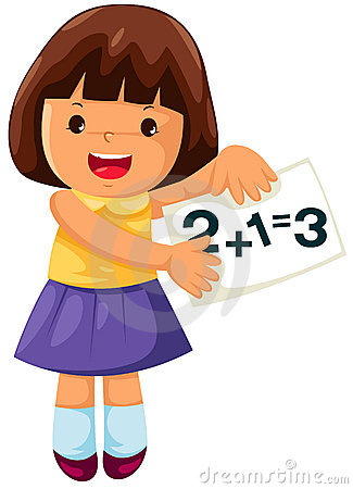325x450 Girl Studying Math Clipart