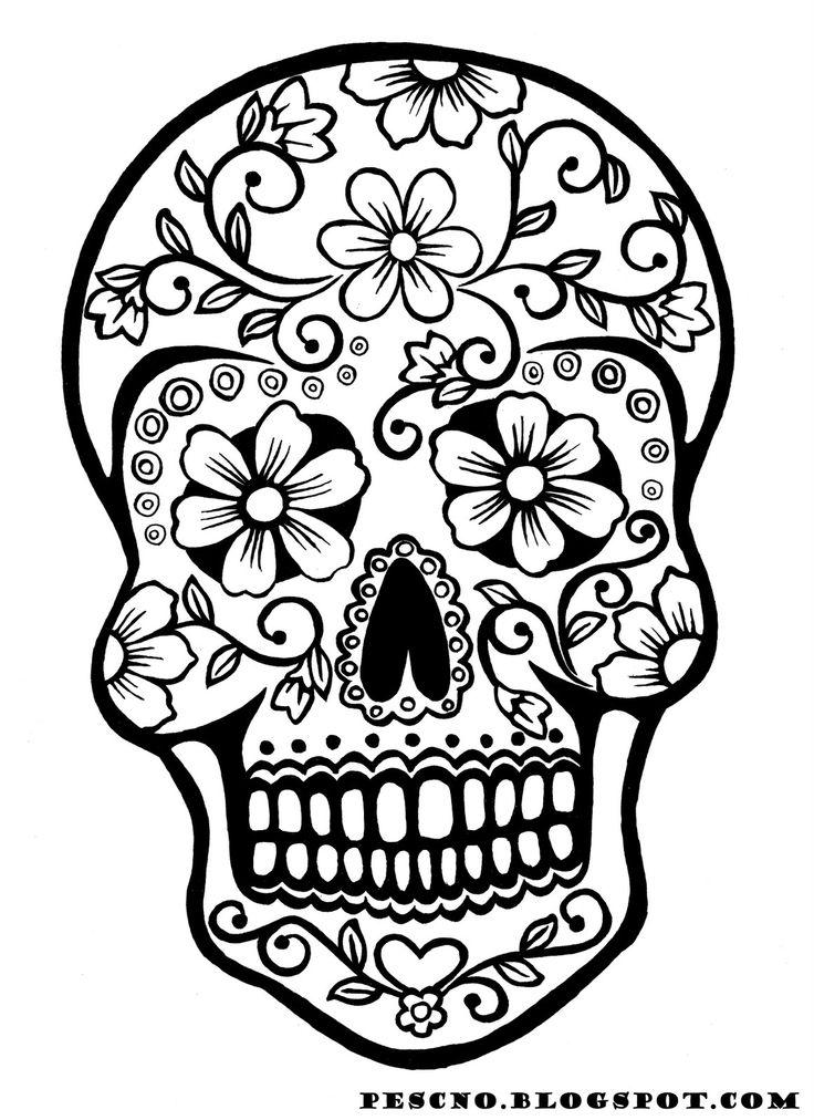 736x1012 Sugar Skulls Coloring Pages