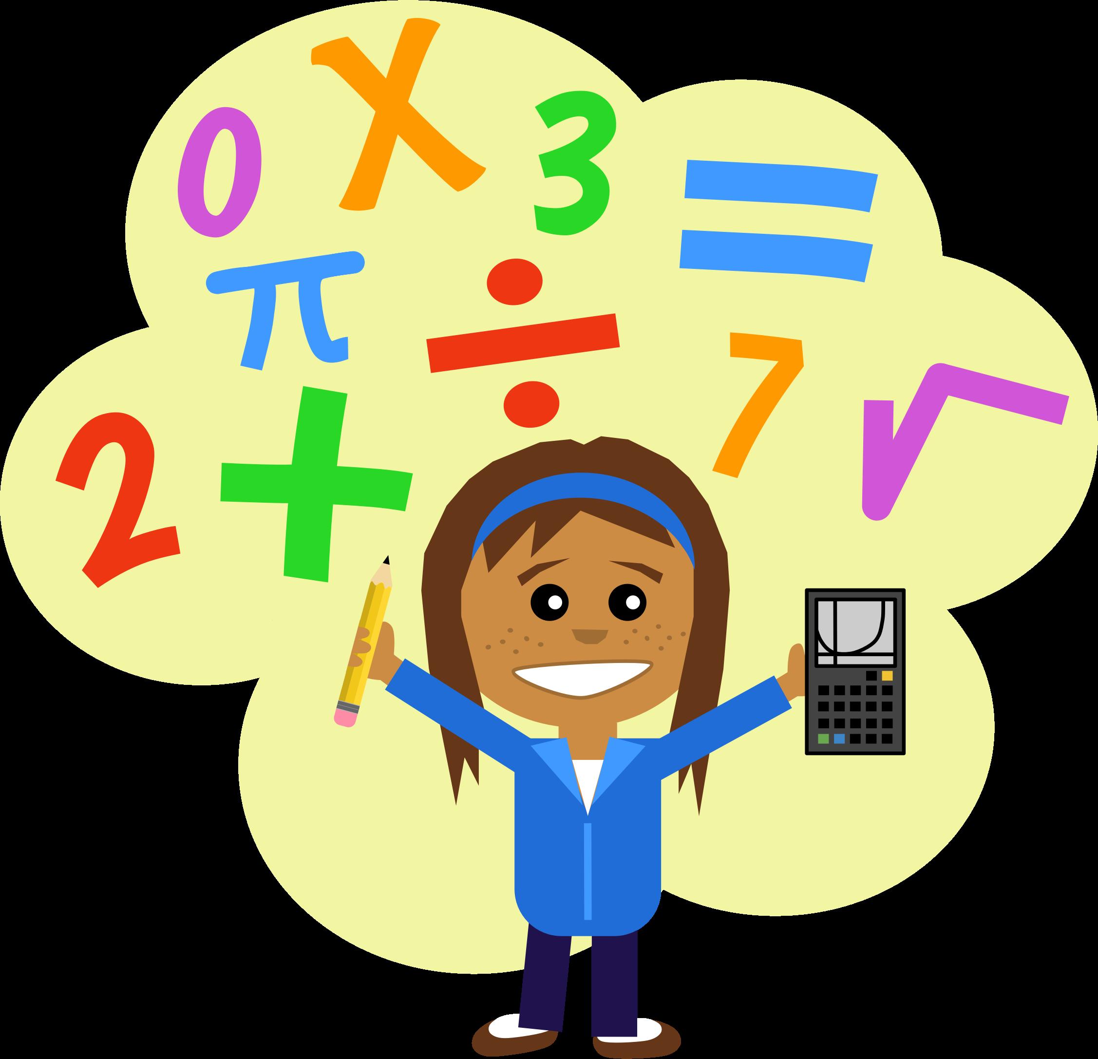 2254x2174 Kids Thinking Math Clipart