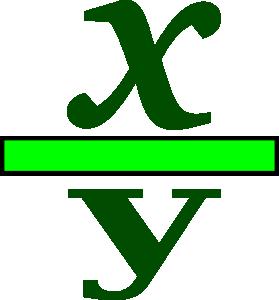 279x300 Math Fraction Clip Art