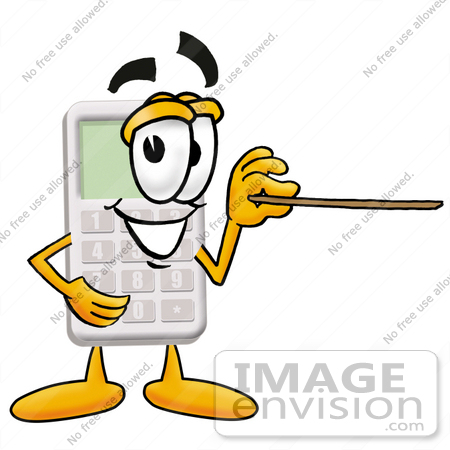 450x450 Cliprt Graphic Of Calculator Cartoon Character Holding