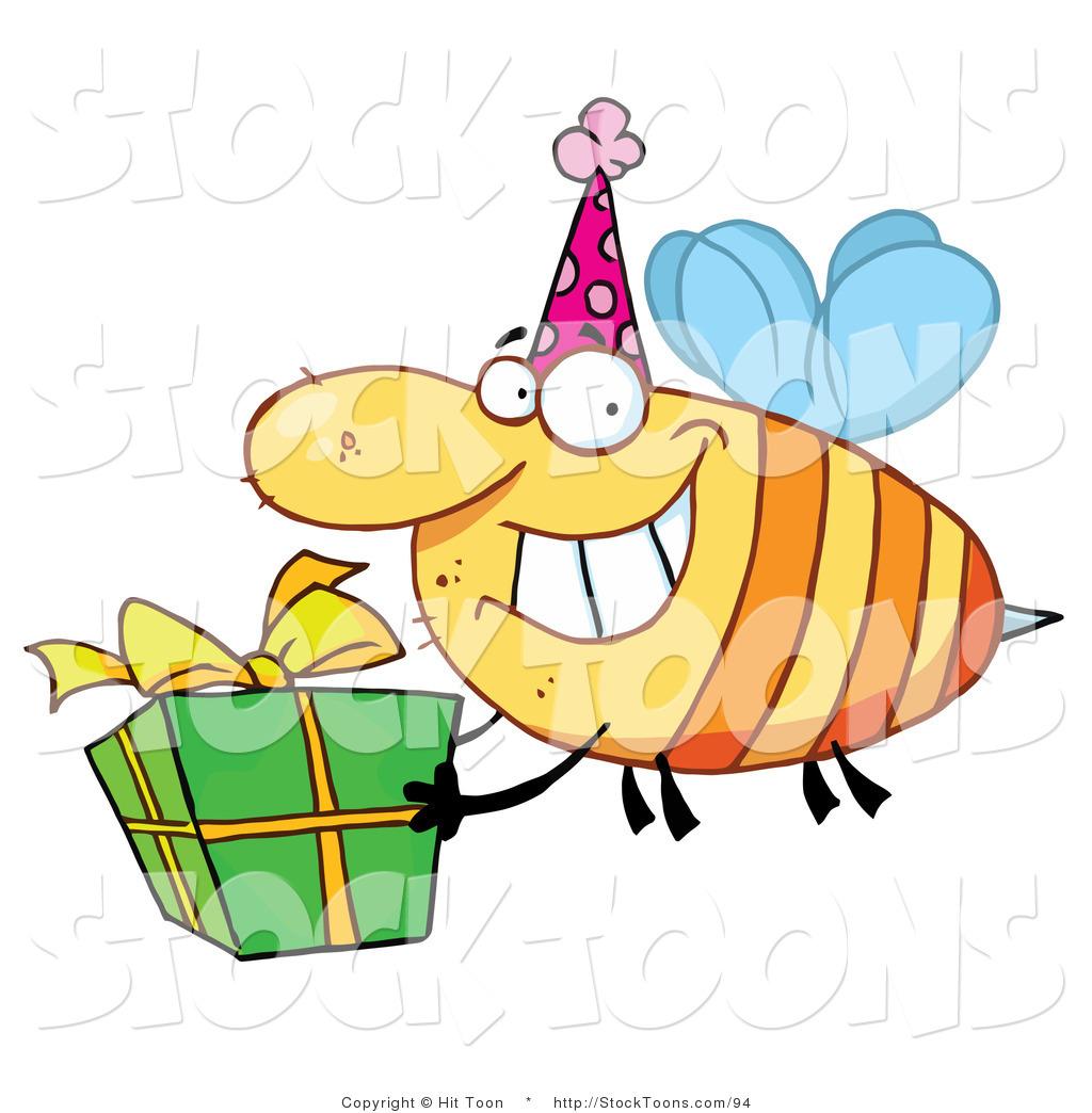 1024x1044 Stock Cartoon Of A Happy Birthday Bee By Hit Toon