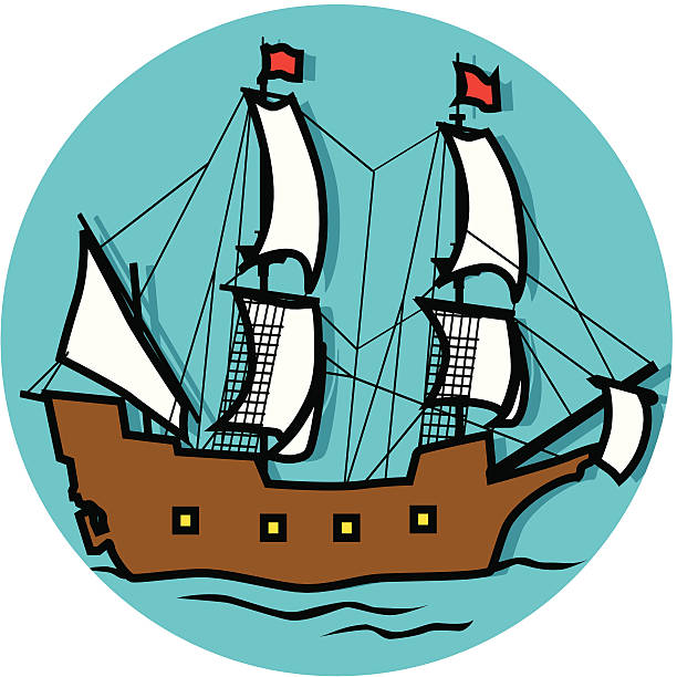 612x612 Sailing Ship Clipart Mayflower Ship